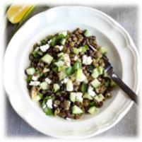 3-bonen feta komkommer salade